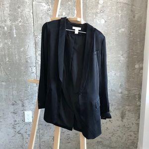 Black silky blazer